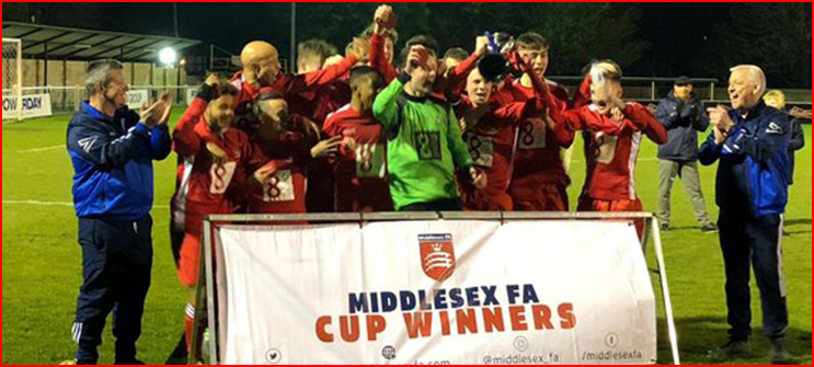 Under 16s are Middlesex Cup winners!!